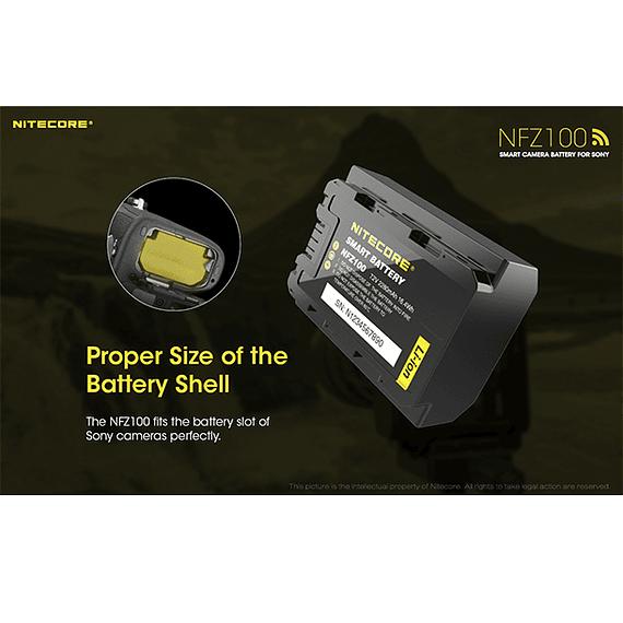 Batería Reemplazo Nitecore Sony NFZ100 con Bluetooth- Image 6