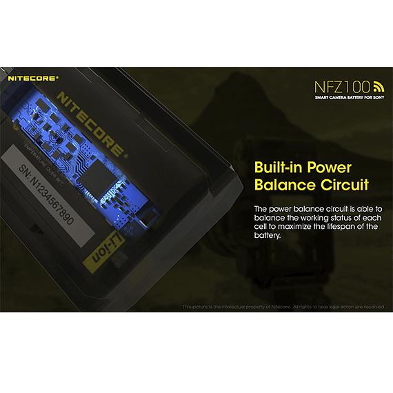 Batería Reemplazo Nitecore Sony NFZ100 con Bluetooth- Image 8