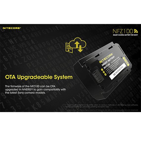 Batería Reemplazo Nitecore Sony NFZ100 con Bluetooth- Image 9