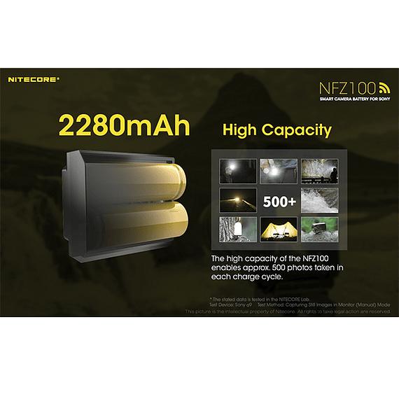 Batería Reemplazo Nitecore Sony NFZ100 con Bluetooth- Image 10