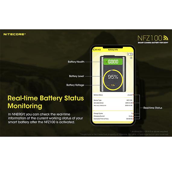 Batería Reemplazo Nitecore Sony NFZ100 con Bluetooth- Image 13