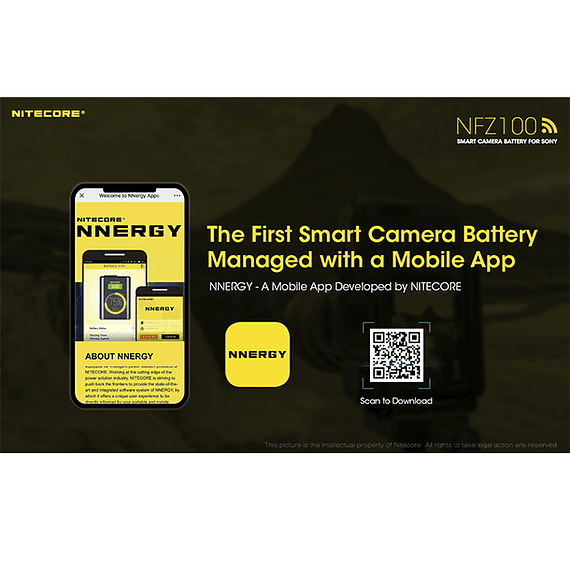 Batería Reemplazo Nitecore Sony NFZ100 con Bluetooth- Image 14