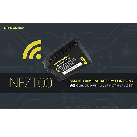 Batería Reemplazo Nitecore Sony NFZ100 con Bluetooth- Image 15