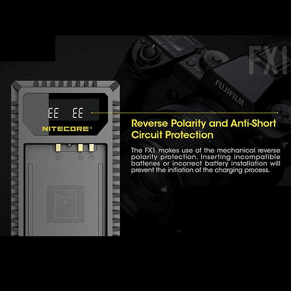 Cargador Nitecore FX1 Dual-Slot USB para Fuji NP-W126s- Image 5