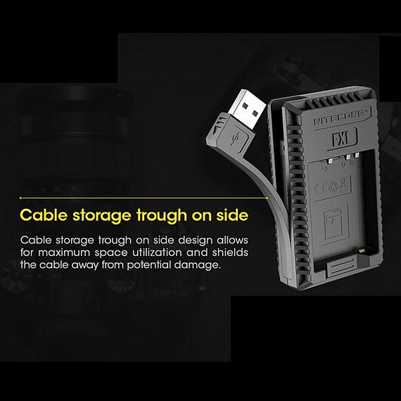 Cargador Nitecore FX1 Dual-Slot USB para Fuji NP-W126s- Image 7