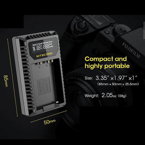 Cargador Nitecore FX1 Dual-Slot USB para Fuji NP-W126s- Image 8