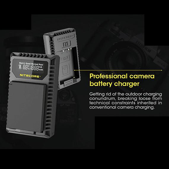 Cargador Nitecore FX1 Dual-Slot USB para Fuji NP-W126s- Image 12