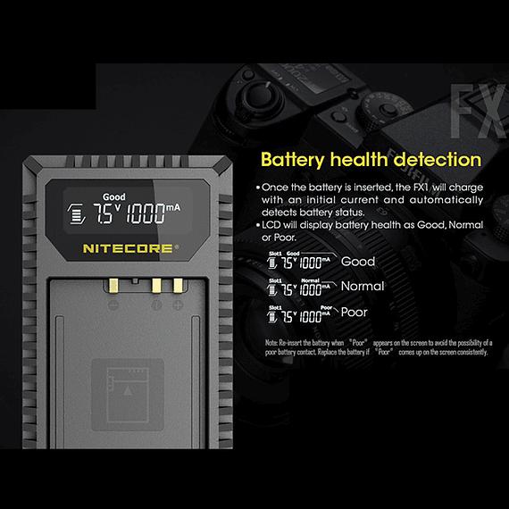 Cargador Nitecore FX1 Dual-Slot USB para Fuji NP-W126s- Image 15