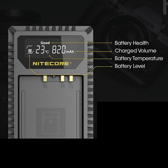 Cargador Nitecore FX1 Dual-Slot USB para Fuji NP-W126s- Image 17