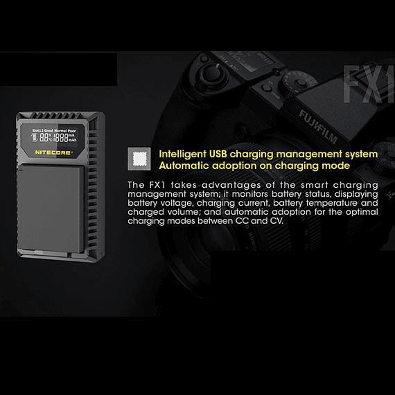Cargador Nitecore FX1 Dual-Slot USB para Fuji NP-W126s- Image 18