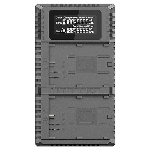 Cargador Nitecore UCN2 PRO Dual-Slot USB para Canon LP-E6N- Image 1