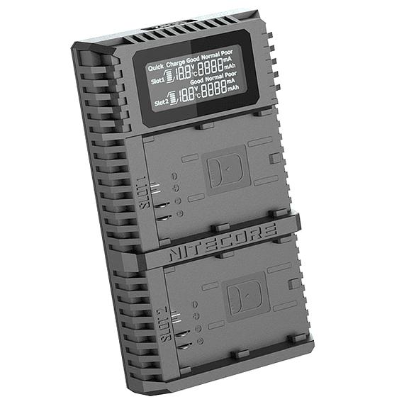 Cargador Nitecore UCN2 PRO Dual-Slot USB para Canon LP-E6N- Image 2