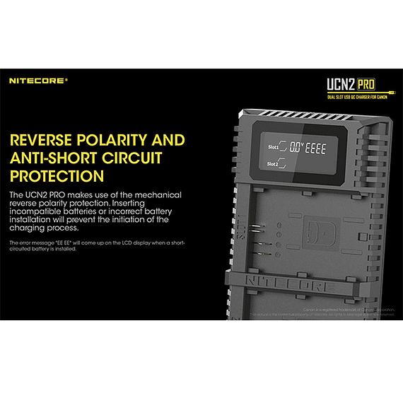 Cargador Nitecore UCN2 PRO Dual-Slot USB para Canon LP-E6N- Image 11