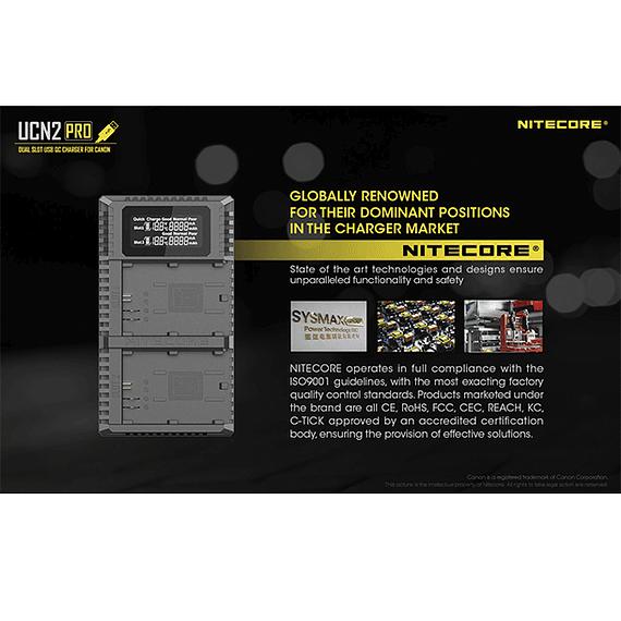 Cargador Nitecore UCN2 PRO Dual-Slot USB para Canon LP-E6N- Image 16