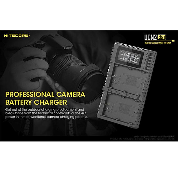Cargador Nitecore UCN2 PRO Dual-Slot USB para Canon LP-E6N- Image 18