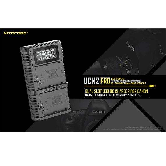 Cargador Nitecore UCN2 PRO Dual-Slot USB para Canon LP-E6N- Image 19