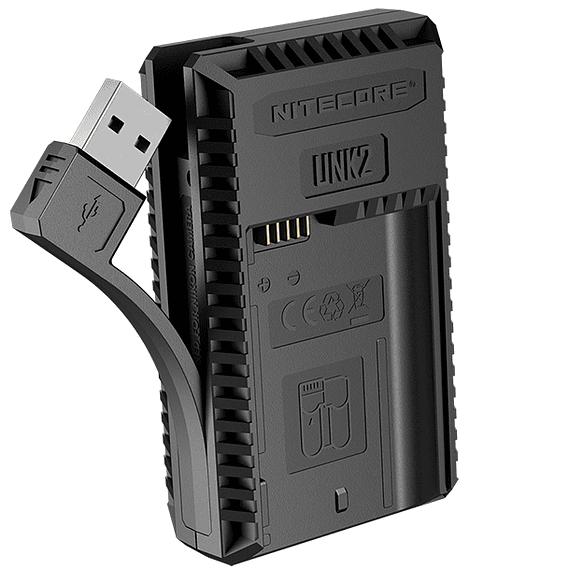 Cargador Nitecore UNK2 Dual-Slot USB para Nikon EN-EL15 y EN-EL15A- Image 3