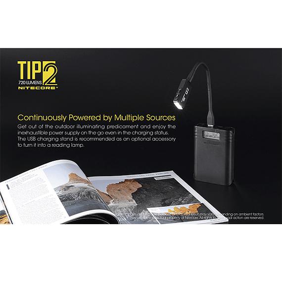 Linterna Compacta LED Nitecore 720 lúmenes Recargable USB TIP2- Image 12