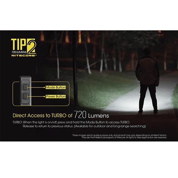 Linterna Compacta LED Nitecore 720 lúmenes Recargable USB TIP2- Image 13
