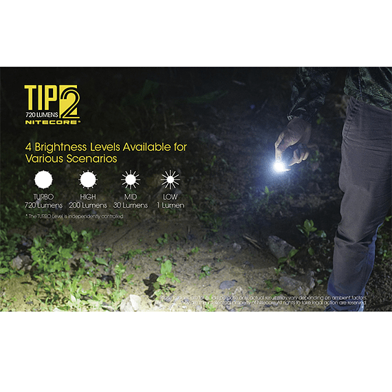 Linterna Compacta LED Nitecore 720 lúmenes Recargable USB TIP2- Image 14
