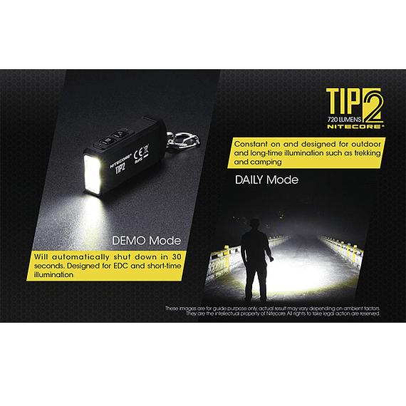 Linterna Compacta LED Nitecore 720 lúmenes Recargable USB TIP2- Image 15