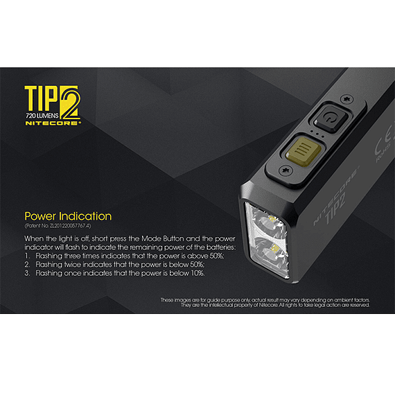 Linterna Compacta LED Nitecore 720 lúmenes Recargable USB TIP2- Image 16