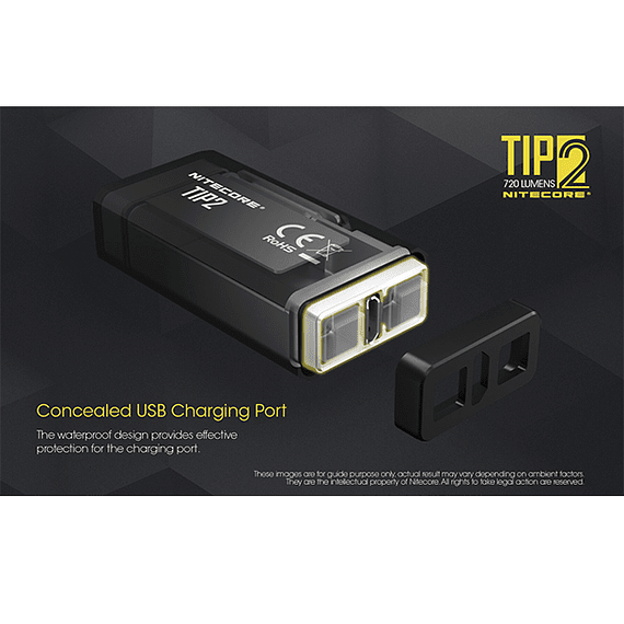 Linterna Compacta LED Nitecore 720 lúmenes Recargable USB TIP2- Image 19