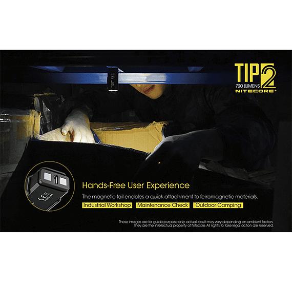 Linterna Compacta LED Nitecore 720 lúmenes Recargable USB TIP2- Image 20
