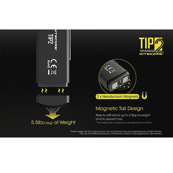Linterna Compacta LED Nitecore 720 lúmenes Recargable USB TIP2- Image 21