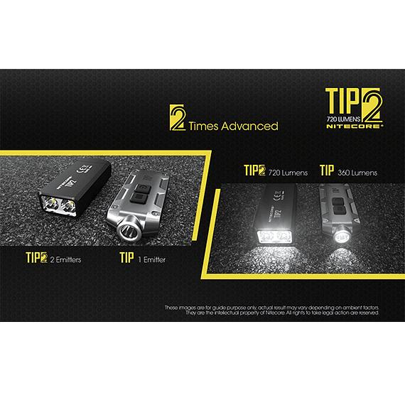 Linterna Compacta LED Nitecore 720 lúmenes Recargable USB TIP2- Image 26