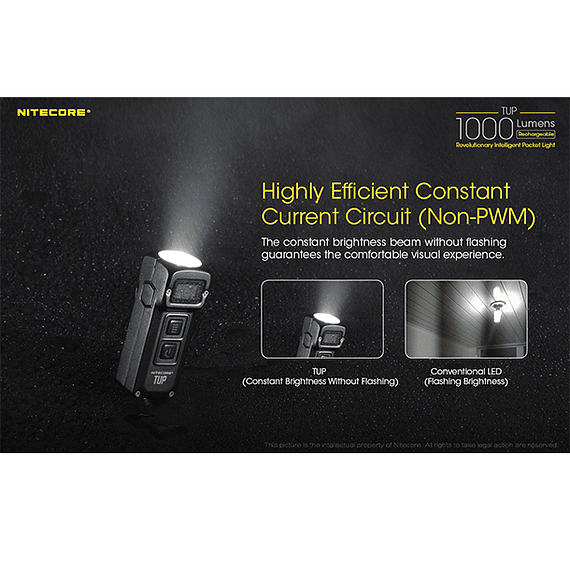 Linterna LED Nitecore 1000 lúmenes Recargable USB TUP- Image 9