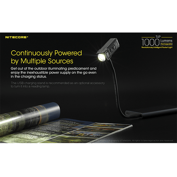 Linterna LED Nitecore 1000 lúmenes Recargable USB TUP- Image 11