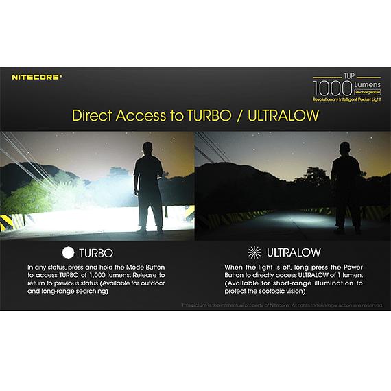 Linterna LED Nitecore 1000 lúmenes Recargable USB TUP- Image 14