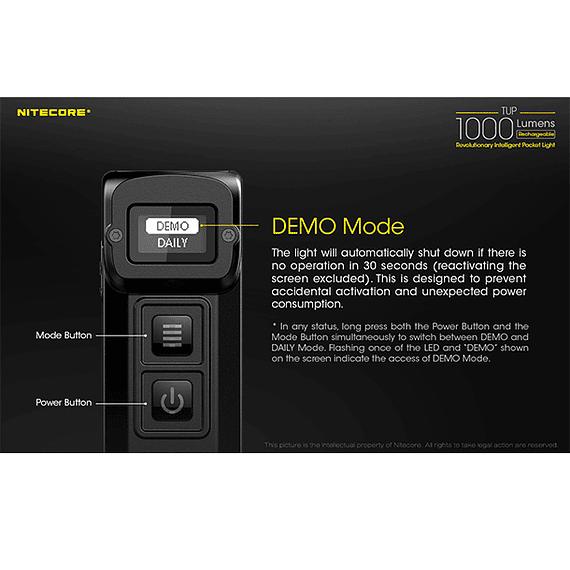 Linterna LED Nitecore 1000 lúmenes Recargable USB TUP- Image 15