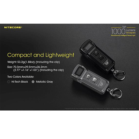 Linterna LED Nitecore 1000 lúmenes Recargable USB TUP- Image 18