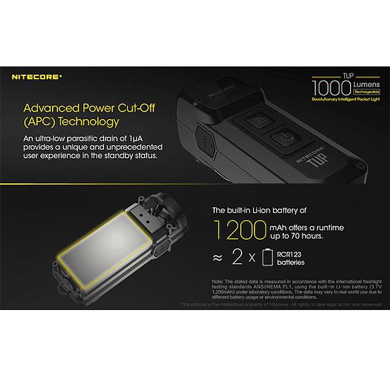 Linterna LED Nitecore 1000 lúmenes Recargable USB TUP- Image 20