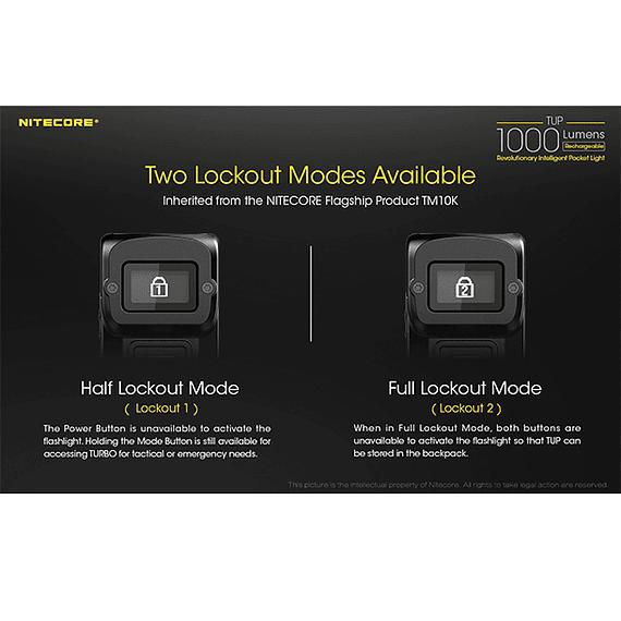 Linterna LED Nitecore 1000 lúmenes Recargable USB TUP- Image 21
