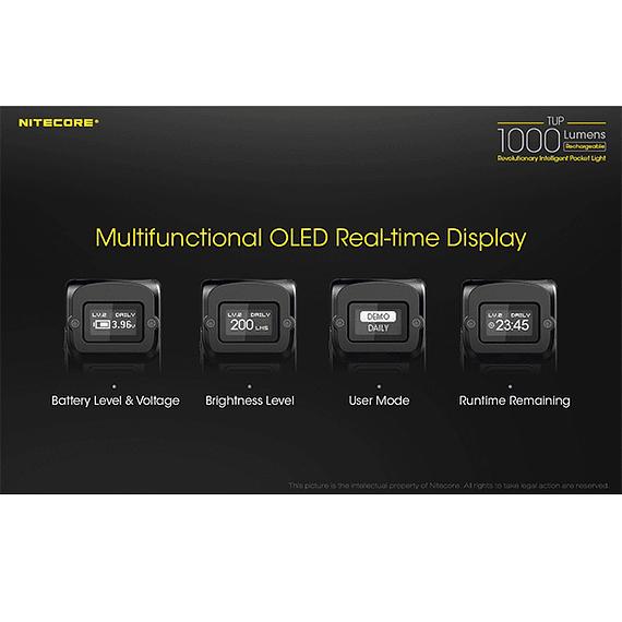 Linterna LED Nitecore 1000 lúmenes Recargable USB TUP- Image 22