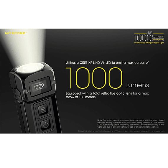 Linterna LED Nitecore 1000 lúmenes Recargable USB TUP- Image 23