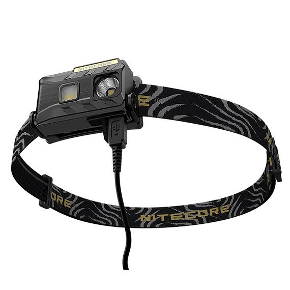 Linterna Frontal LED Nitecore 360 lúmenes Recargable USB NU25 Negro- Image 4