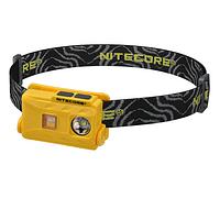 Linterna Frontal LED Nitecore 360 lúmenes Recargable USB NU25 Amarillo