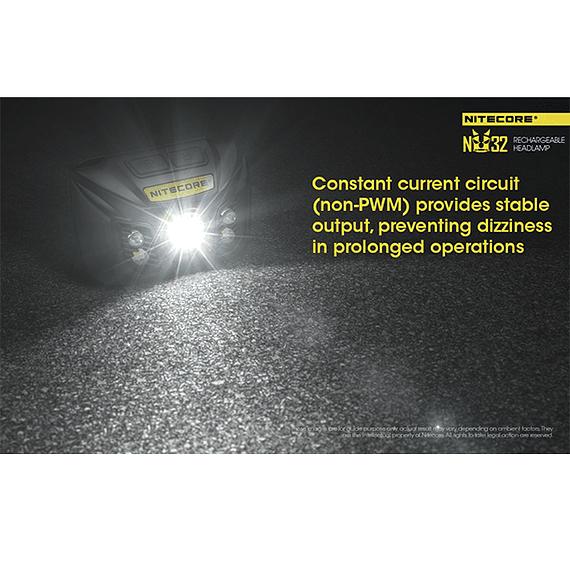 Linterna Frontal LED Nitecore 550 lúmenes Recargable USB NU32- Image 13