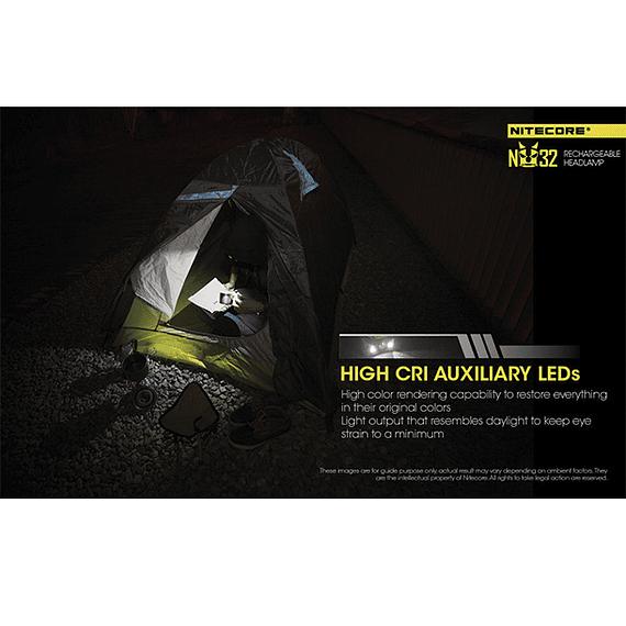 Linterna Frontal LED Nitecore 550 lúmenes Recargable USB NU32- Image 15