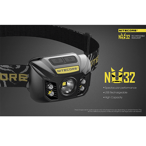 Linterna Frontal LED Nitecore 550 lúmenes Recargable USB NU32- Image 25