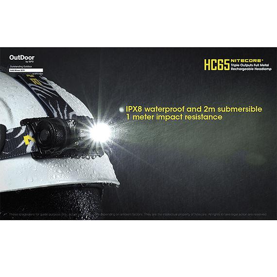 Linterna Frontal LED Nitecore 1000 lúmenes Recargable USB HC65- Image 7