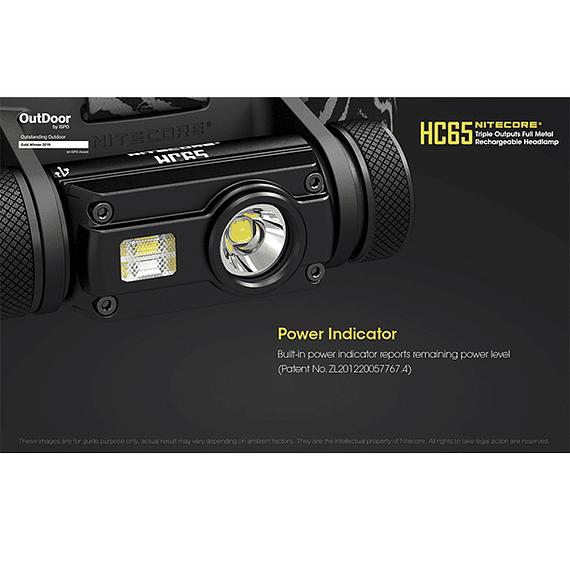 Linterna Frontal LED Nitecore 1000 lúmenes Recargable USB HC65- Image 8