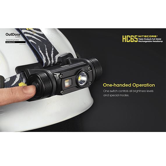 Linterna Frontal LED Nitecore 1000 lúmenes Recargable USB HC65- Image 12