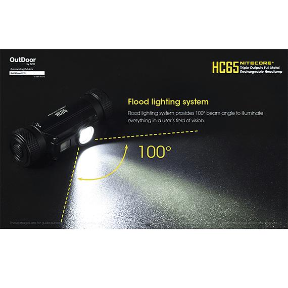 Linterna Frontal LED Nitecore 1000 lúmenes Recargable USB HC65- Image 13