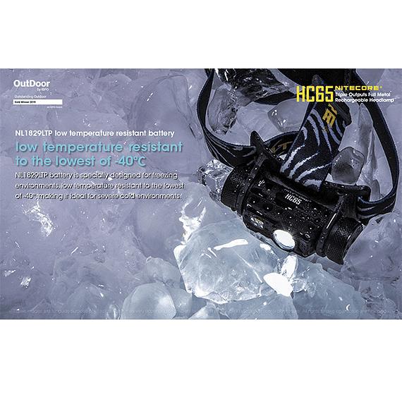 Linterna Frontal LED Nitecore 1000 lúmenes Recargable USB HC65- Image 16