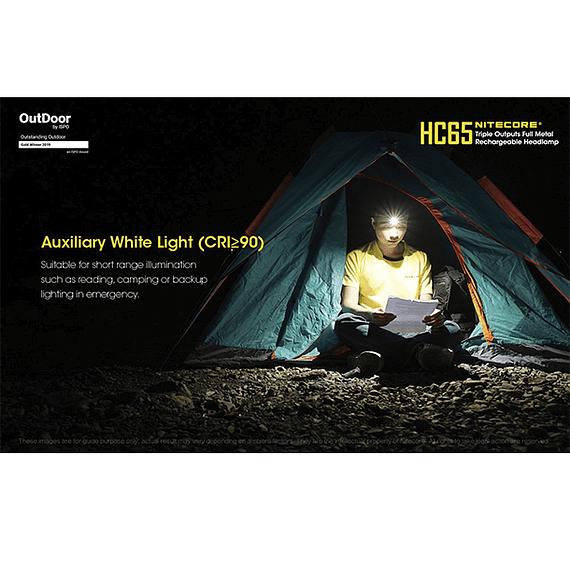 Linterna Frontal LED Nitecore 1000 lúmenes Recargable USB HC65- Image 21